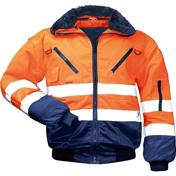 LeiKaTex – Chaqueta de trabajo, de seguridad, diseño de piloto, certificación EN 471, clase 3, 4 en 1, varios colores
