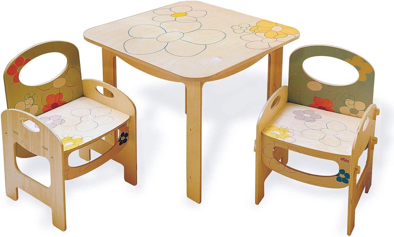 Tables et chaises Table en Bois pour Les Enfants DIDA Meubles pour Enfants /à meubler la Chambre d/écoration Florale