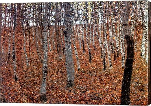 "Beech Forest   by Gustav Klimt 20/""x20/"" Canvas Art"