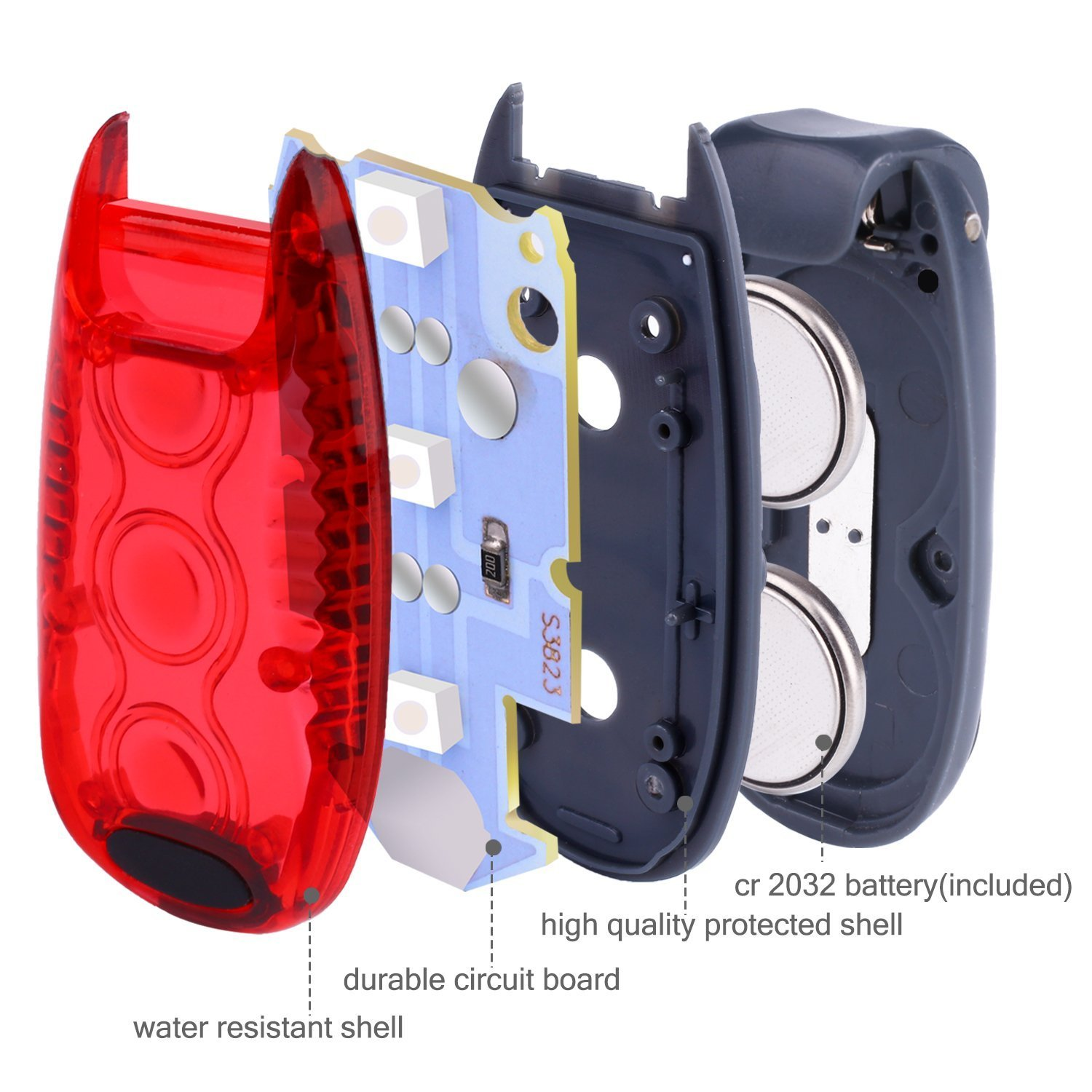 Dogs Walking Cycling Vimmor 3 Pcs LED Safety Lights 3 Modes Clip on Strobe//Running Light//Waterproof Bike Rear Tail Light//Flashing Dog Collar with Clip on Velcro Straps for Running Helmet etc
