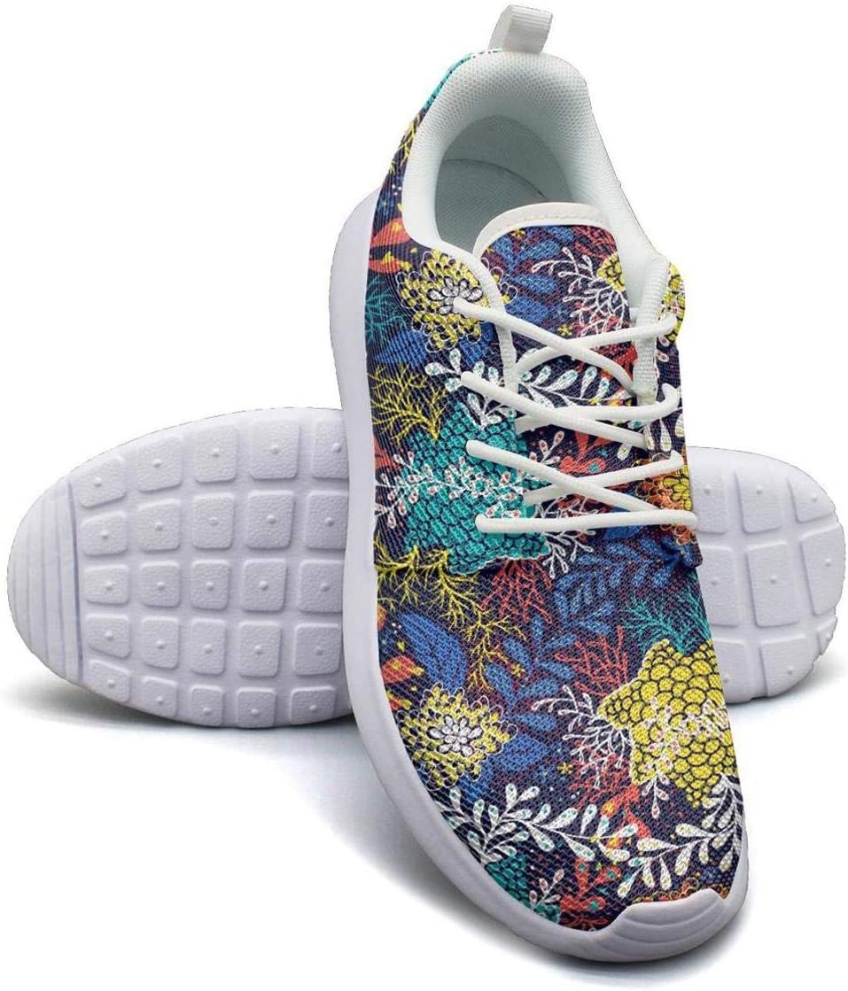 VXCVF Colorful Blooming Flowers Male Tennis Shoes for Mens Non-Slip Casual