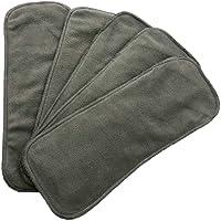 Insertos de Carbon de bambu - Paquete de 5 insertos (2 capas de carbon de bambu y 2 capas de microfibra) ideales para pañales de tela de bolsa