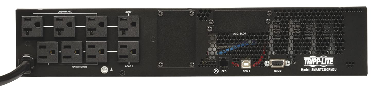 8 Outlets Tripp Lite SMART2200RM2U 2200VA 1920W UPS Smart Rackmount AVR LCD 120V USB DB9 SNMP 2URM