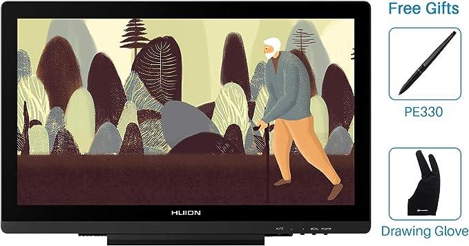 HUION Actualizado Kamvas GT-191 V2 8192 Nivel Libre de batería Stylus Lápiz de Display Dibujo Monitor con Panel IPS 19.5 Pulgadas 1920x1080 266 PPS (GT 191): Amazon.es: Informática