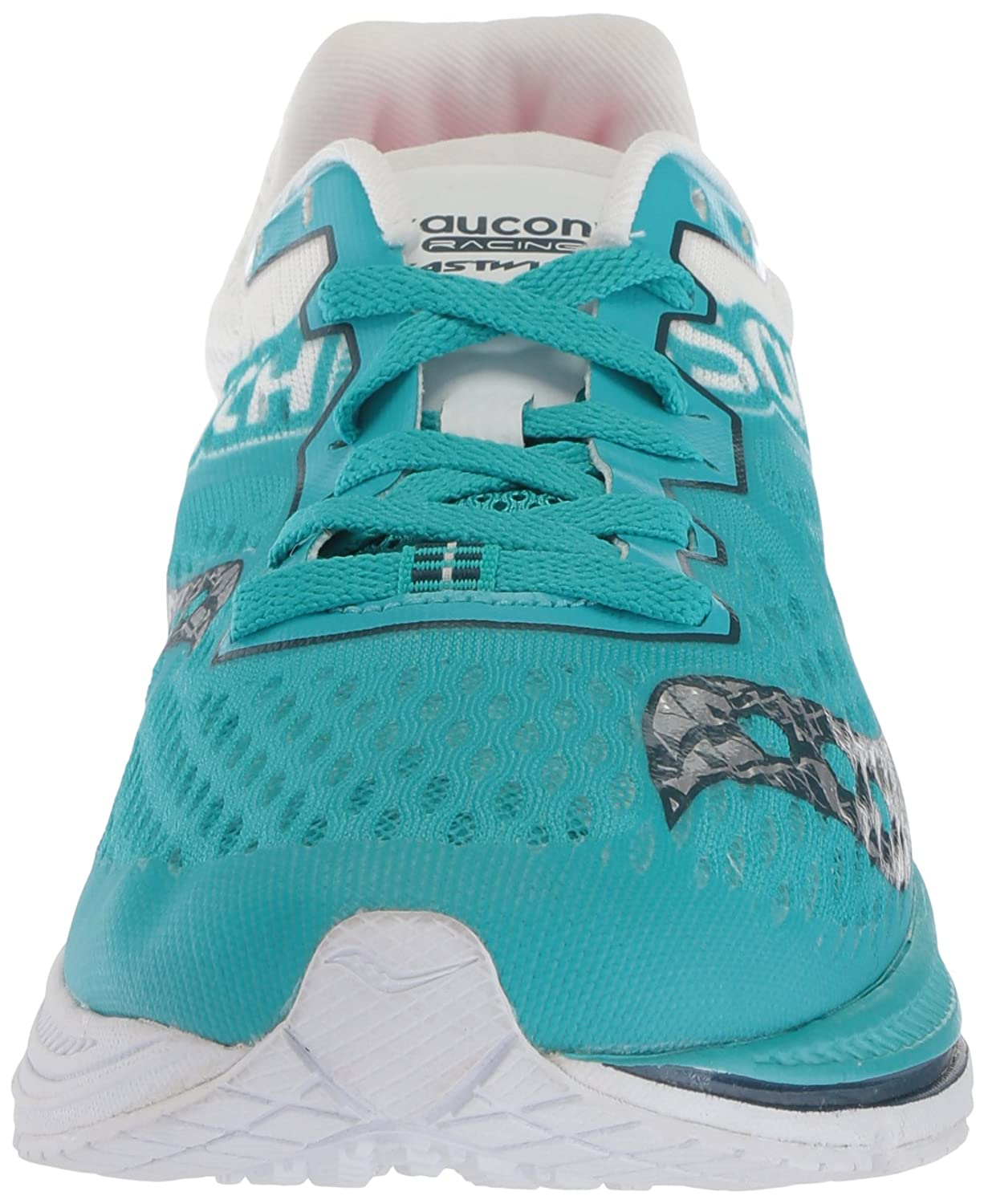 Saucony Women's Fastwitch 8 Cross Country Running Shoe B071JP1KCD 10 B(M) US|Teal/White