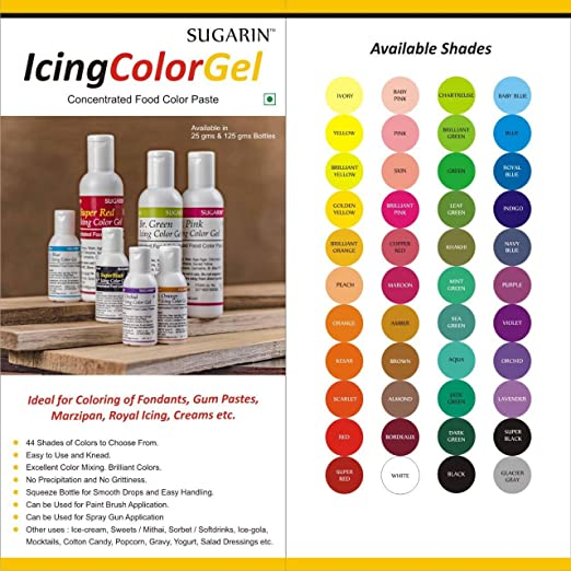 Sugarin Icing Color Gel for Fondant, Red, 25 gram: Amazon.in ...