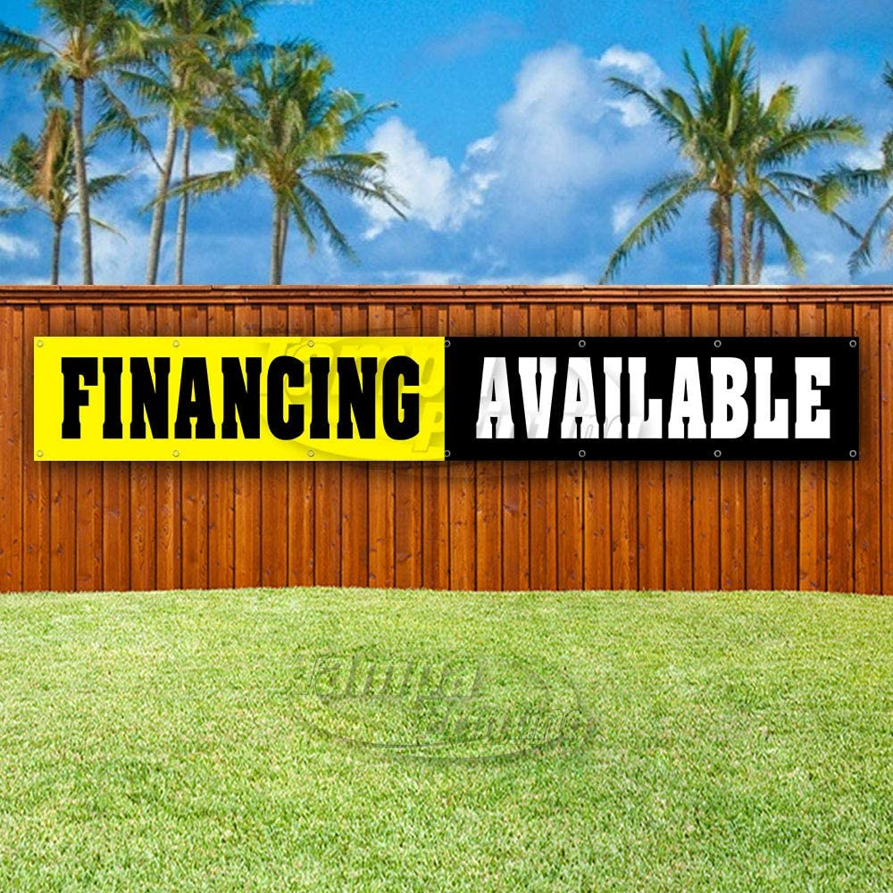 Many Sizes Available Advertising New Flag, FINANCING Available Extra Large 13 oz Heavy Duty Vinyl Banner Sign with Metal Grommets Store