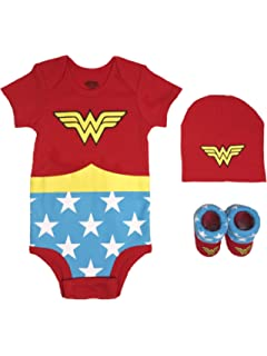 NWT Baby Wonder Woman Shirt Top Clothes Removable Cape Multiple Sizes SO CUTE!
