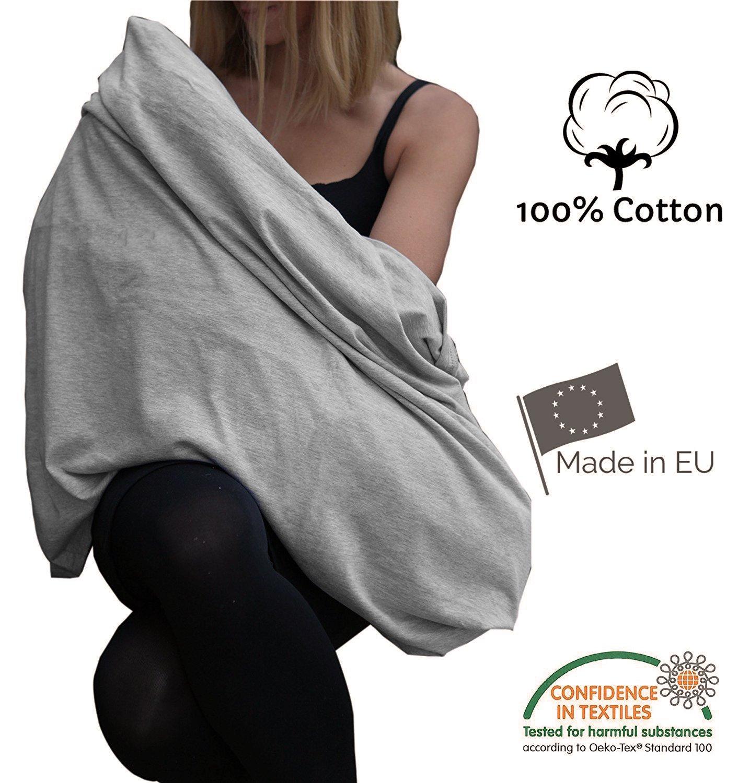 Écharpe d'allaitement 100% éco coton respirant fabriqué en Europe Tissu de haute qualité PULP Bamboo
