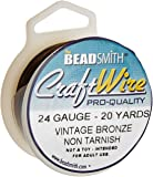 Artistic Wire 24 Gauge Antique Vintage Bronze Brass Color Copper Craft Wire, 20 yd