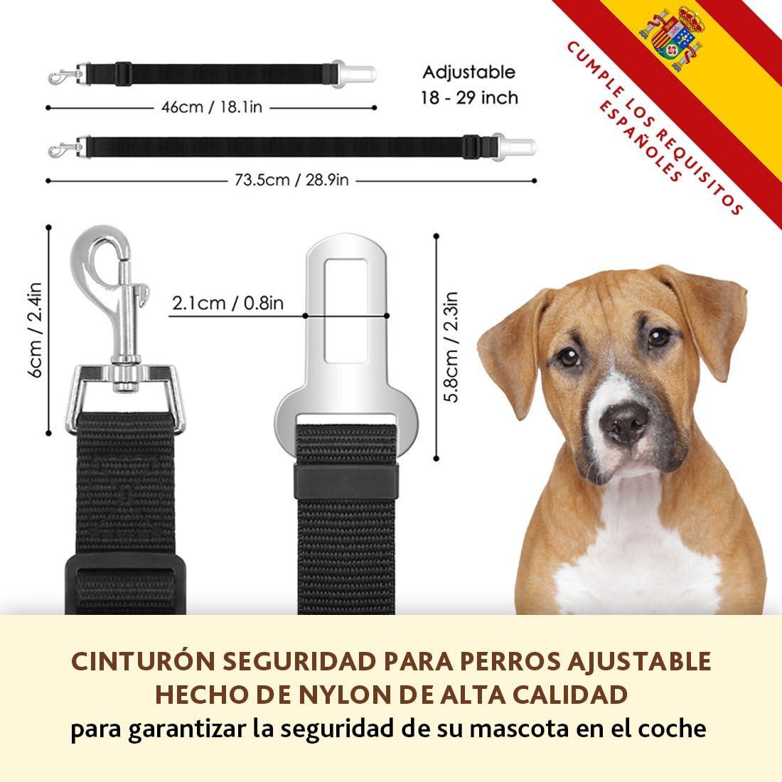 HappyPets Cinturón Perro Coche 3 unidades - Cinturón De Seguridad ...
