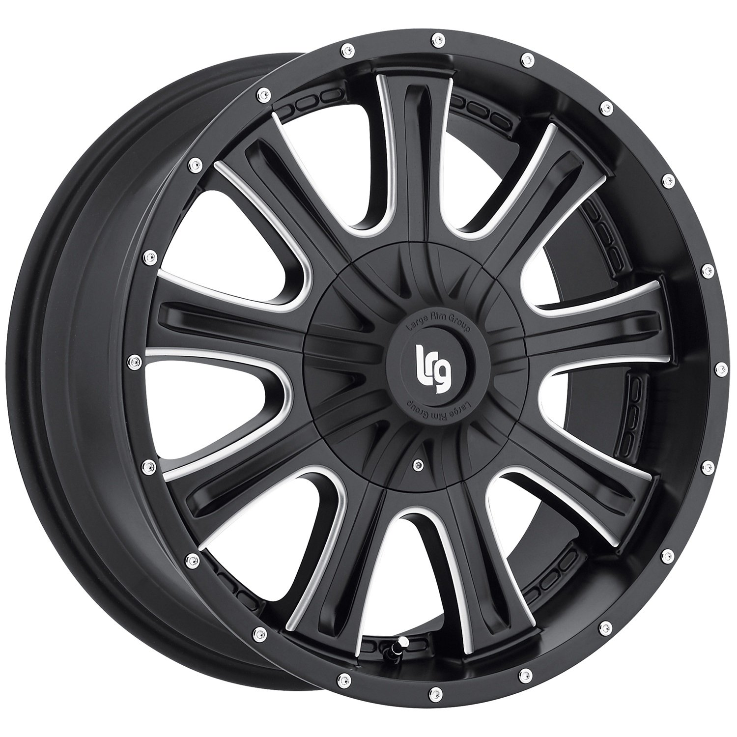 18x9//8x170mm LRG Rims LRG105 Access Black Wheel with Milled Accents