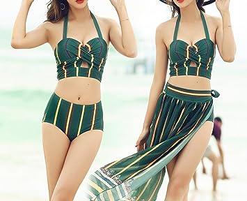 Amazon.com: HOMEE Traje de baño falda de playa - Verano ...
