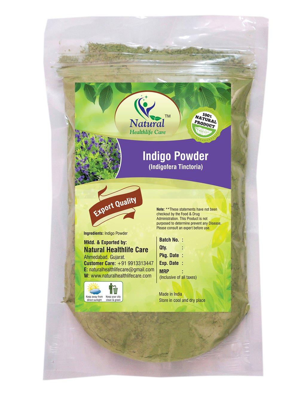 Natural Healthlife Care 100% Natural Indigo Powder (Indigofera Tinctoria) (227g/(1/2 lb)/8 ounces)