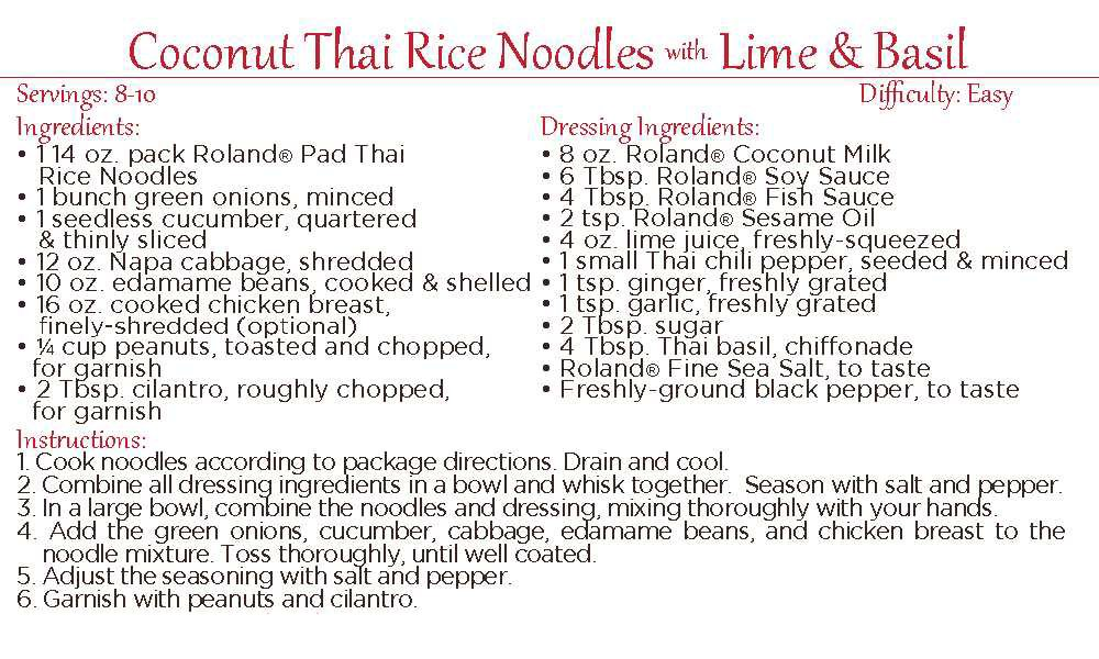 Roland Rice Noodles, Pad Thai Sticks, 14 Ounce (Pack of 30) by Roland