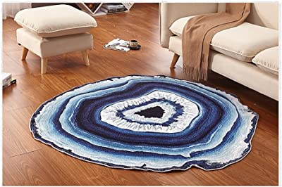 Round carpet living room simple bedroom creative floor mats study room personality rug ( Size : 80cm )