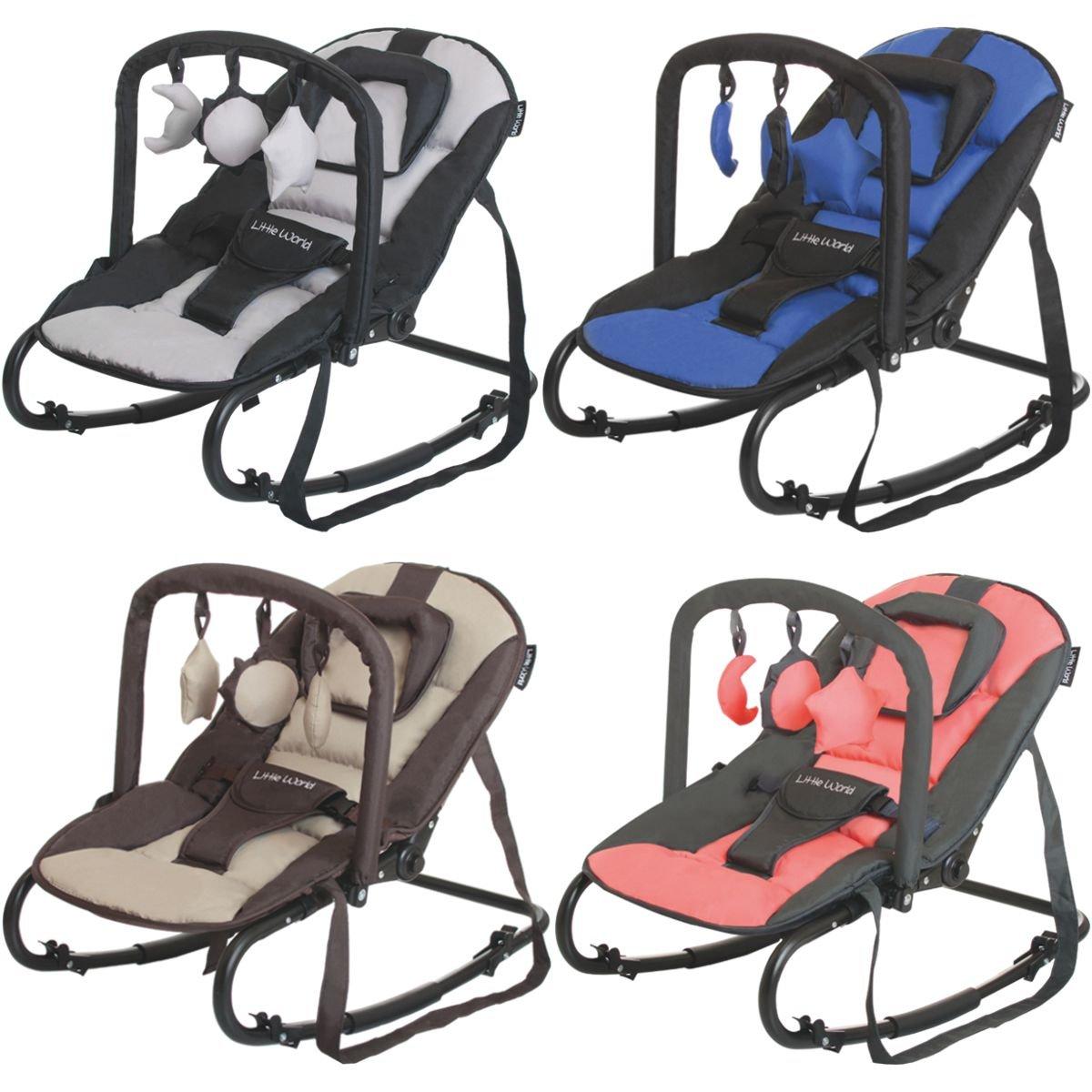 RELAX STARDUST Babywippe Babytrage Schaukel Babyschaukel Babywiege + Spielbogen (BRAUN/BEIGE) Stimo24