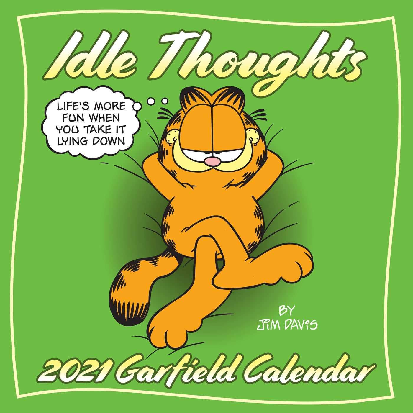 Garfield 2021 Wall Calendar Idle Thoughts Davis Jim 9781524857202 Amazon Com Books