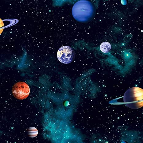 Arthouse Kids Cosmos Space Planets Wallpaper Charcoal