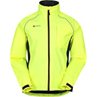 Mountain Warehouse Adrenaline Mens Waterproof Cycling Jacket - Reflective Mens Coat, Breathable Unisex Rain Coat - for…