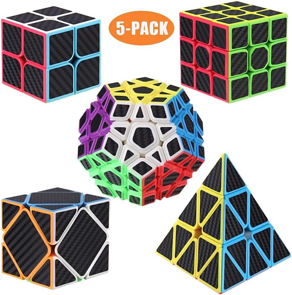 ROXENDA Cubos de Velocidad, [5 Pack] Speed Cube Set de 2x2 3x3 ...