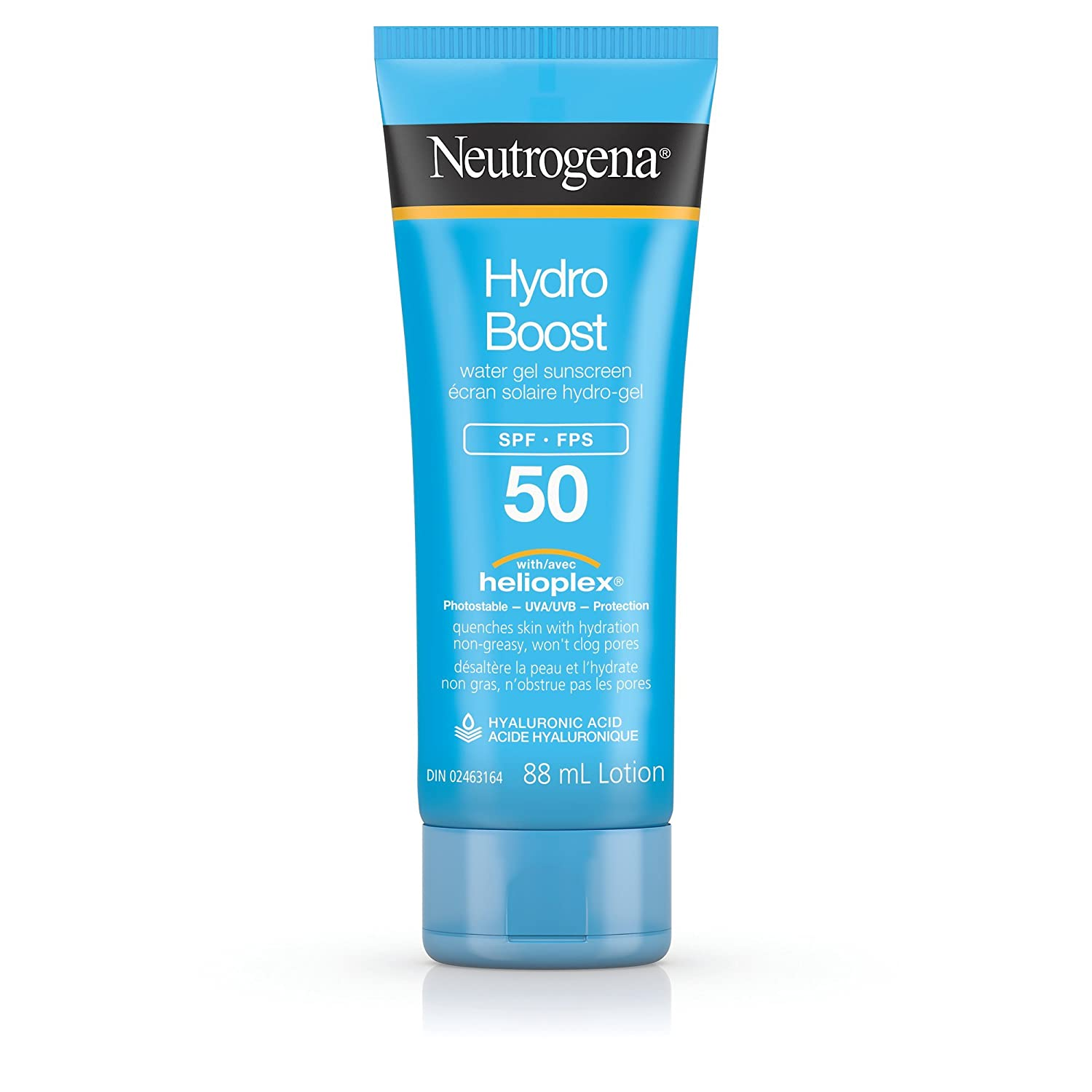 Neutrogena Hydroboost Water Gel Sunscreen SPF 50, with Hyaluronic Acid to Hydrate Skin, Water Resistant, 88ml Johnson & Johnson