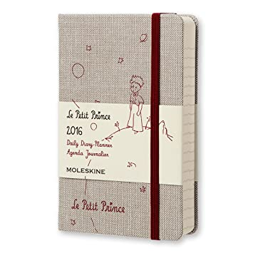 Moleskine El Principito - Agenda diaria 2016, 12 meses, tamaño bolsillo, color gris