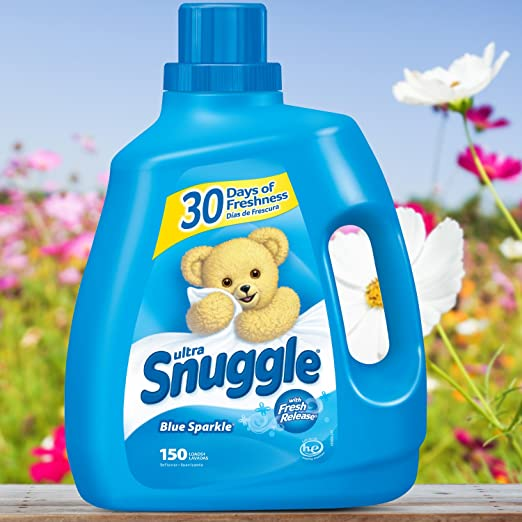 Amazon.com: Snuggle Ultra Fabric Softener Liquid, Blue Sparkle, 120 Fluid Ounce: Health & Personal Care