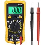 Digital Multimeter, Amoner Auto-ranging Electronic Amp Volt Ohm Voltage Meter Multimeter with Diode,AC Current,Transistors,Temperature,Resistance Test Tester and Emerald-green Backlit LCD Display