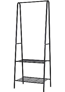 Home-Like Perchero de hierro Colgador para ropa Zapatero con 2 estantes de metal para organizar la…