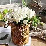 YJYdada Artificial Fake Flowers Tulip Bouquet Floral Wedding Bouquet Party Home Decor (White)