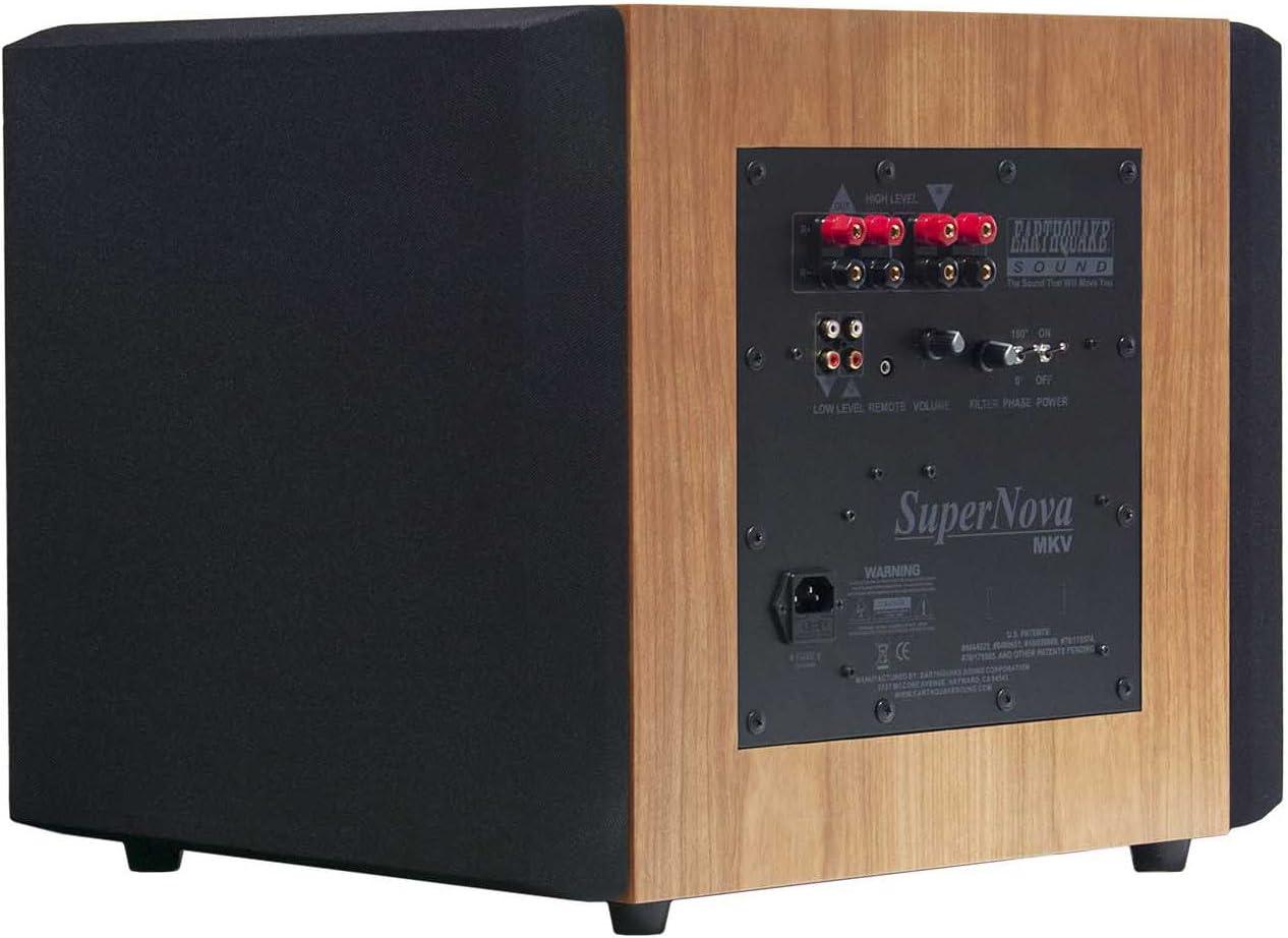 Earthquake Sound Supernova MKV-12VC 12-inch Powered Subwoofer (Cherry, Single)