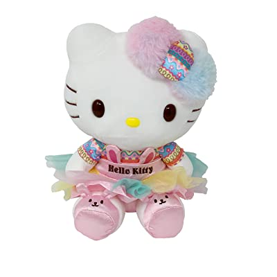 Sanrio JP Hello Kitty Plush Toy Multicolor Bunny Edition: Toys & Games