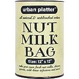 """Urban Platter Natural Unbleached Cotton Nut Milk Bag (Size: 12"""" x 12"""")"""