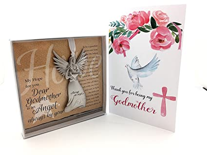 godmother gifts with godmother angel and thank you card gift set for godmother baptized in christ