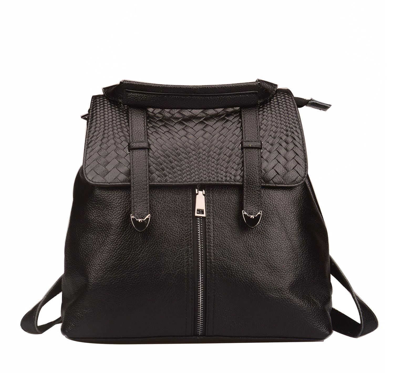 : Fiswiss Women's Woven Flap Genuine Leather