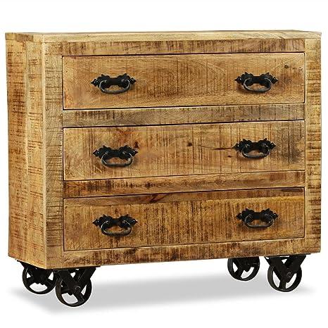 Mobili Legno Grezzo Economici.Furnituredeals Credenza Economico Credenza 3 Cassetti In