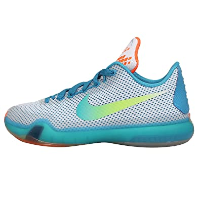 3bf2a40ad74c Nike Kobe X GS (High Dive) White Key Lime-Bl Lagoon (3.5)  Amazon.co ...