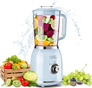 REDMOND Personal Blender for Shakes and Smoothies, Small Countertop Blender with 4 Sharp Blades, Smoothie Blender with 27 oz, 300W High-Speed Power,BPA-Free, Blue