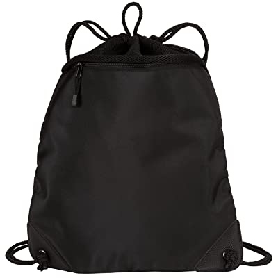 high-quality Port Authority - Cinch Pack Backpack with Mesh Trim. BG81 - Black