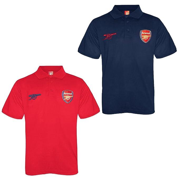 Arsenal FC Polo Oficial Para Niño - con el Escudo del Club - Rojo ...
