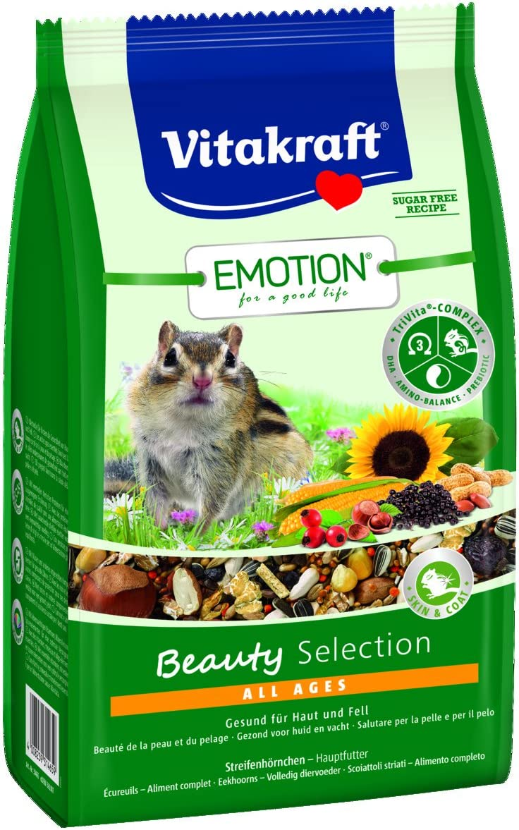 VITAKRAFT Vita Fuerza Solos Forro para Tamias, nueces, Dulces y Gamba, trivita de Complex, Emotion Beauty Selection All Ages