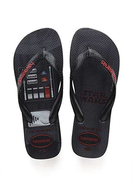 c7ed1972b Image Unavailable. Image not available for. Color  Havaianas Star Wars Flip  Flops - Black UK 1213