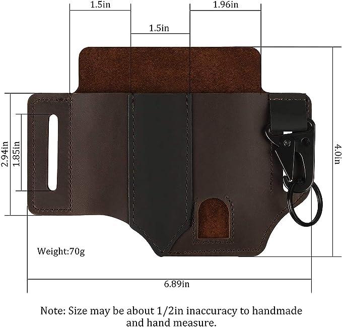 Yseng - Funda para cinturón de piel, multiherramienta, organizador de bolsillo de piel, funda para cinturón de cuchillos, funda de piel para ...