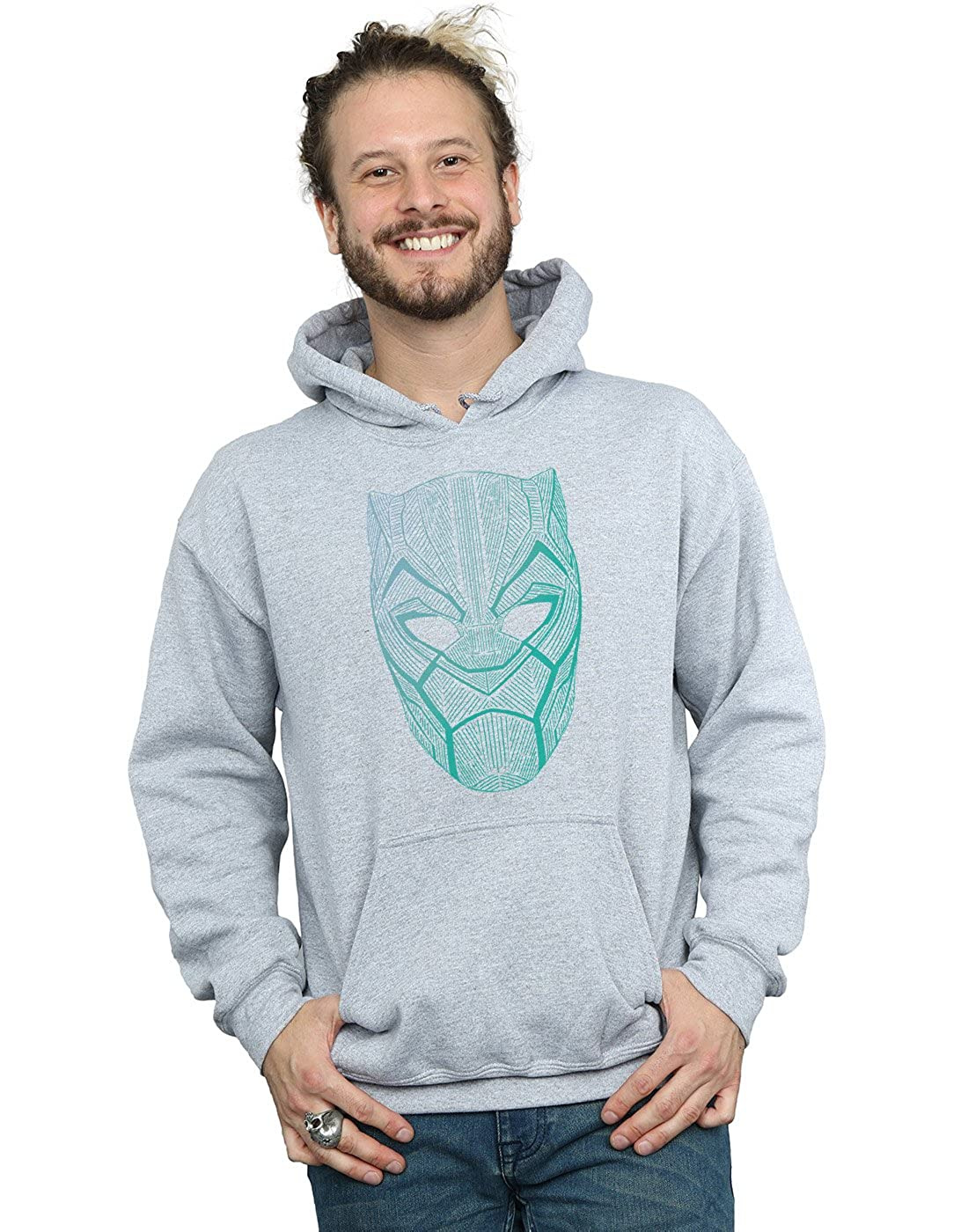 Marvel Herren schwarz Panther Tribal Mask Kapuzenpullover
