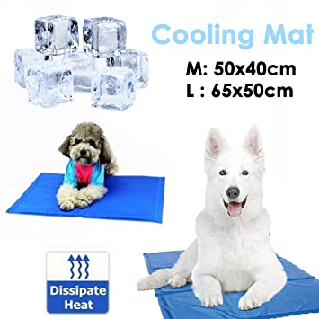 JJOnlinestore - Mascota Perro Gato alfombrilla de Gel de refrigeración para cama Verano automático alivio instantáneo del calor no tóxico cojín colchón ...