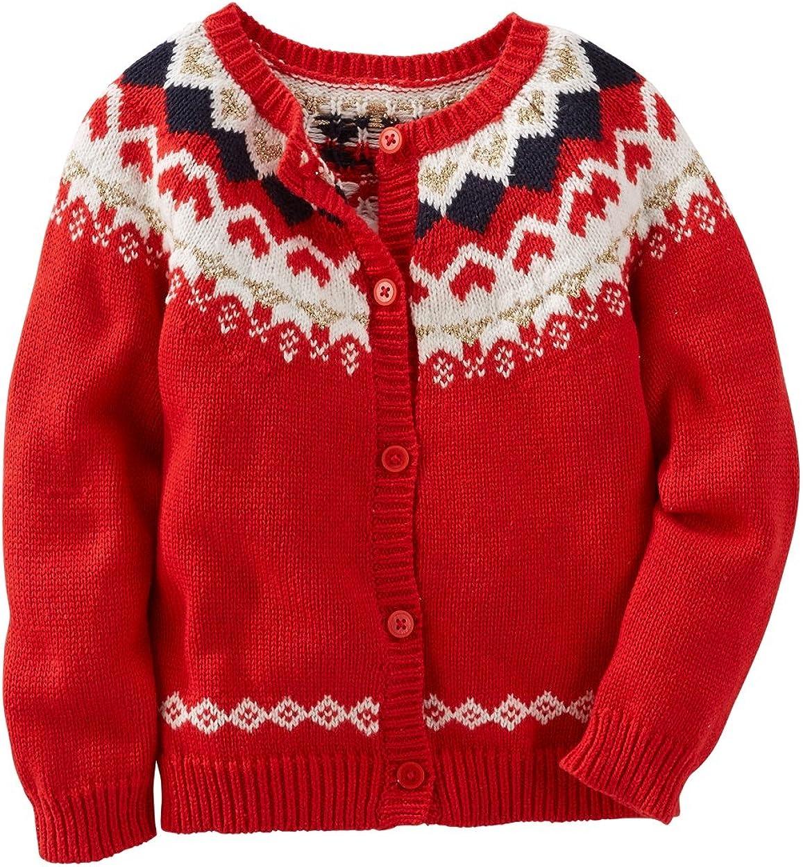 OshKosh Bgosh Little Girls Marled Pink Cardigan Sweater