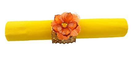 amazon com 8 thanksgiving fall autumn napkin rings orange acrylic