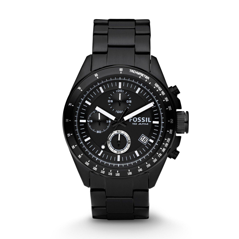 Fossil Men's CH2600 Decker Black Stainless Steel Watch