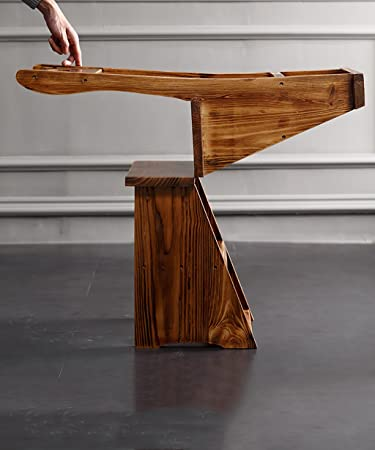 ZENGAI Escalera Madera Sillas escalera multifunción Nórdico Creative cuatro capas Plegable Multilayer Silla de madera maciza Escaleras escaleras ...